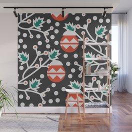 Mistletoe and Christmas ornament Wall Mural