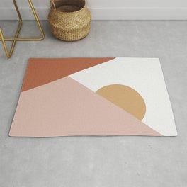 Geometric Sunset Rug