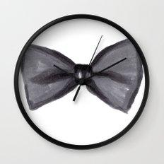 Black Bow Wall Clock