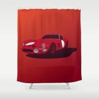 ferrari Shower Curtains featuring Ferrari GTO by Claeys Jelle Automotive Artwork