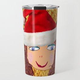 Gold Christmas | Kids Painting | Christmas Spirit Travel Mug