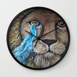 His Eye Upon Me Wall Clock