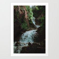 Alaska Waterfall Art Print