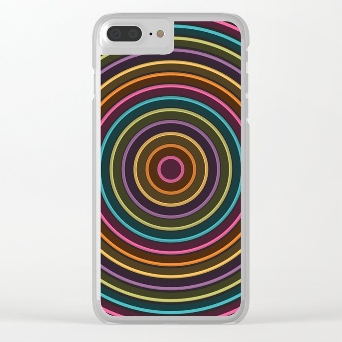Colorful circle II Clear iPhone Case