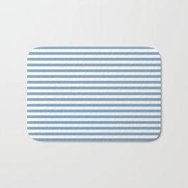 Chambray striped pattern Bath Mat