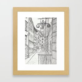 Stockholm Alley Framed Art Print