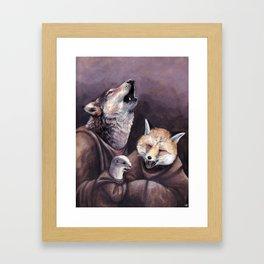 Le loup, le renard et la belette Framed Art Print