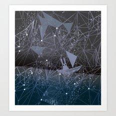 sailing through space Art Print