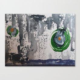 Art Therapy Blue Green Circles Canvas Print