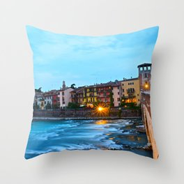 The Flow of Florence Throw Pillow