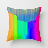 pivot Throw Pillows featuring R Experiment 4 (quicksort v2) by X's gallery