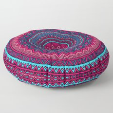 Hippie mandala 46 Floor Pillow