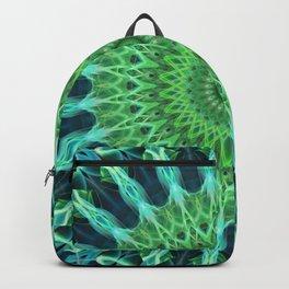 Green and blue mandala Backpack