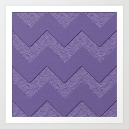 Cardboard background with zig zag pattern and Pantone color 2018 Art Print