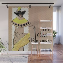 Vintage the Gay Parisienne Victorian theatre advertising Wall Mural