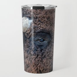 OLena Art Bison the Mighty Beast - Bison das mächtige Tier North American Wildlife Travel Mug