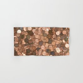 Pennies for your thoughts Hand & Bath Towel