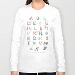 Animal Alphabet Long Sleeve T-shirt