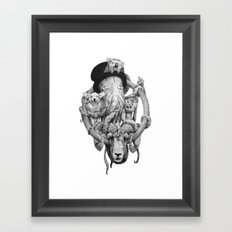 Cthulhu and Friends Framed Art Print