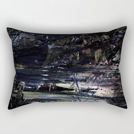 """Drenched In Darkness - """"Still Wet Collection"""" by Nathan Luis Steinke Rectangular Pillow"""