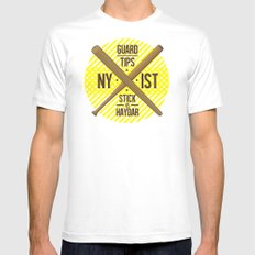 Self Guard White SMALL Mens Fitted Tee