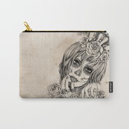 Sugar Skull Queen Carry-All Pouch