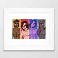 monster high Framed Art Prints featuring Monster High Boys Print by Maxey McSwain