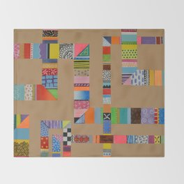 Patchwork Pipes Throw Blanket