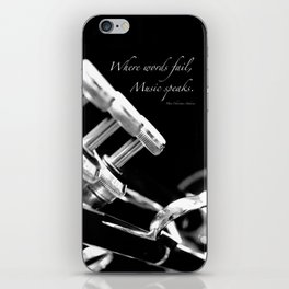 Music Speaks iPhone Skin