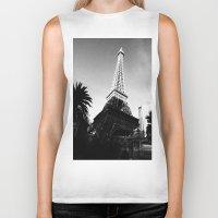 eiffel Biker Tanks featuring Eiffel by Melynda Nichole