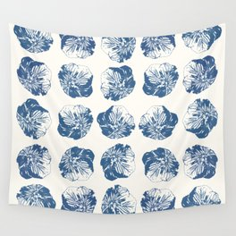 Minimal Patterns - Mexican Primrose Blue Wall Tapestry