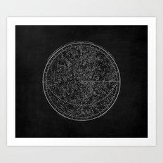 Vintage Celestial Map II Art Print