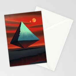 Moon Pyramid Stationery Cards