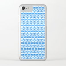 Dividers 02 in Blue over White Clear iPhone Case