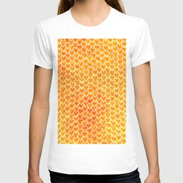 Mermaid Scales - Orange Gold T-shirt