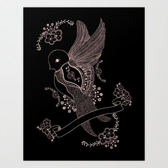 L'hirondelle Art Print