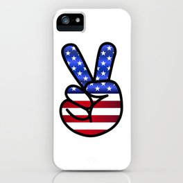 Independance Day USA Peace Sign iPhone Case