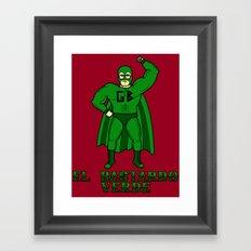 El Bastardo Verde Framed Art Print