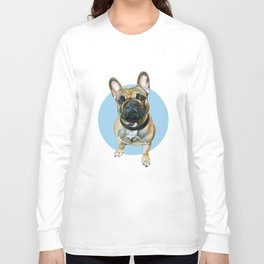 French Bulldog blue spot. Long Sleeve T-shirt