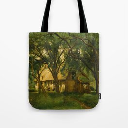 The Toutain Farm at Honfleur - Camille Corot Tote Bag