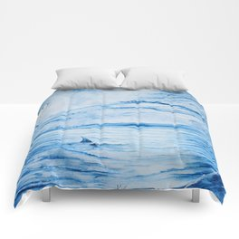 Full moon over shallow water Comforters
