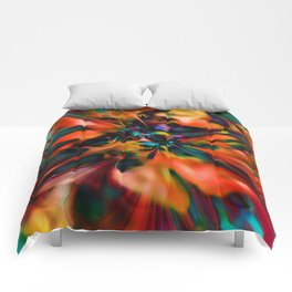 Abstract Poppy Comforters
