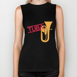 Tuba Players Tubaist Musicians Musical Notes Instruments Gift Biker Tank