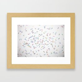 Line Dance Framed Art Print