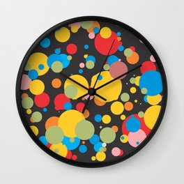 Polka Dots - Graphic Art Wall Clock