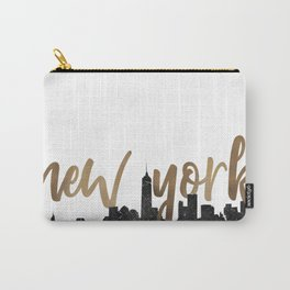 New York City Silhouette Outline Carry-All Pouch