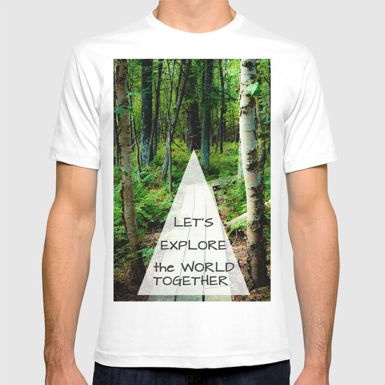 Let's Explore the World Together - Color T-shirt