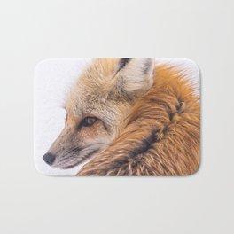 Red Fox Close-Up Bath Mat