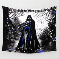 vader Wall Tapestries featuring Vader by Saundra Myles