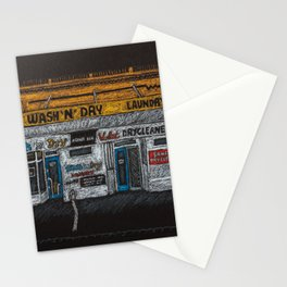 Wash N Dry Waiting for Dawn. Stationery Cards